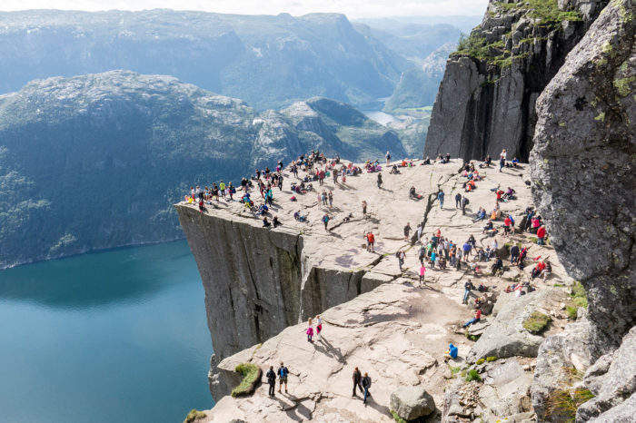 Hiking Pulpit Rock - Norway