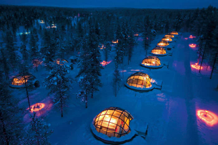 Spend a Night in Glass Igloo- Finland